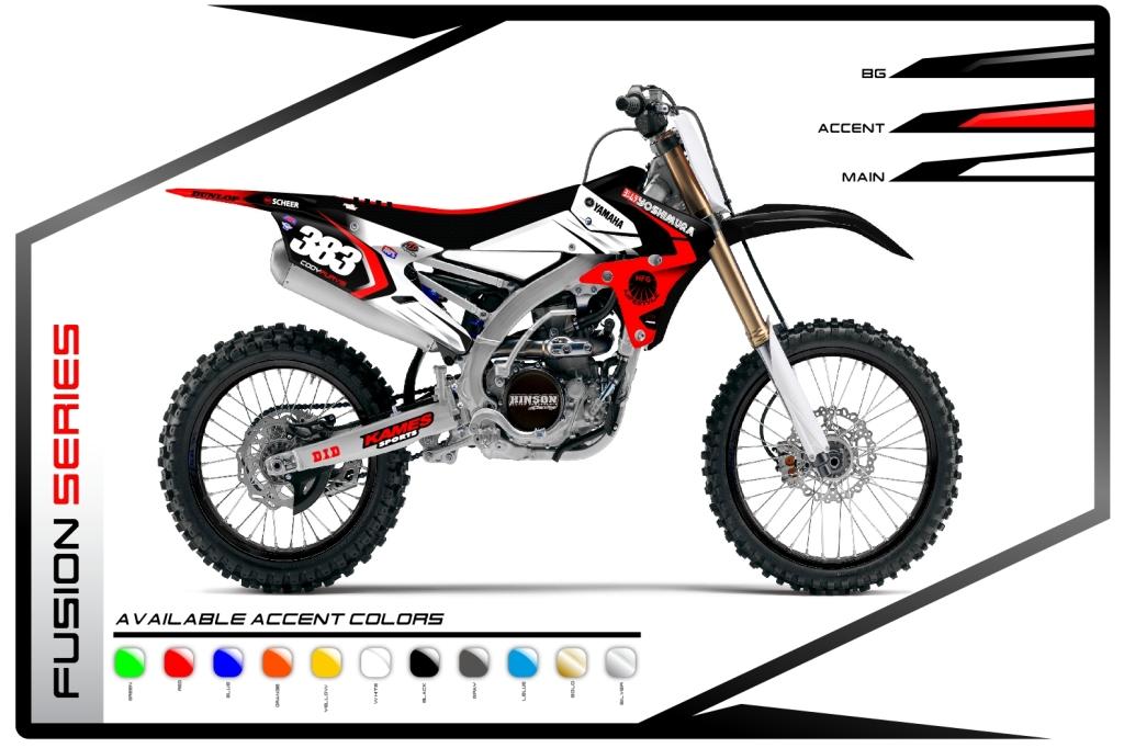Primal X Motorsports MX Graphics Yamaha Fusion Series