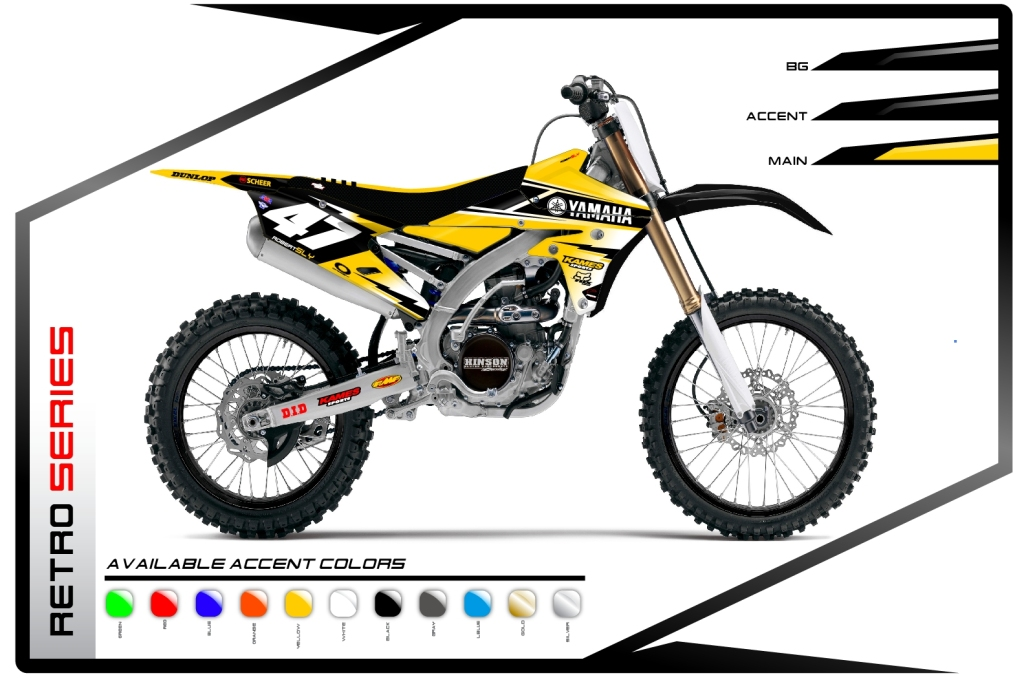 Primal X Motorsports MX Graphics Yamaha Retro Series