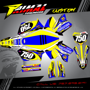 BIKELIFE KINGS MX GRAPHICS PRIMAL X MOTORSPORTS BIKELIFE MX DECALS MOTOCROSS ATV GRAPHICS RM125 RM250 SUZUKI MX GRAPHICS