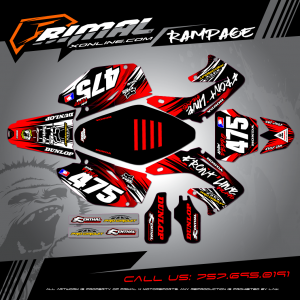 CR250 MX GRAPHICS PRIMAL X MOTORSPORTS BIKELIFE MX DECALS MOTOCROSS RAMPAGE SERIES