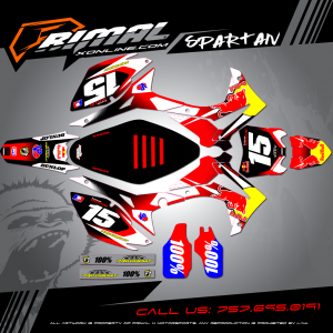 CRF250 MX GRAPHICS PRIMAL X MOTORSPORTS BIKELIFE MX DECALS MOTOCROSS SPARTAN SERIES