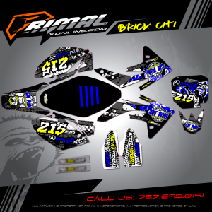 CRF 150R MX GRAPHICS PRIMAL X MOTORSPORTS BIKELIFE MX DECALS MOTOCROSS BRICK CITI