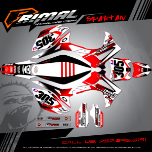 CRF 450 MX GRAPHICS PRIMAL X MOTORSPORTS BIKELIFE MX DECALS MOTOCROSS SPARTAN SERIES ROSCO