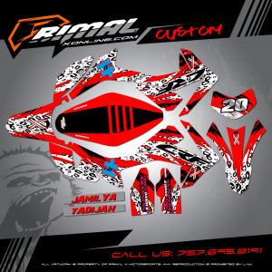 HONDA CRF250L MX GRAPHICS PRIMAL X MOTORSPORTS BIKELIFE MX DECALS MOTOCROSS