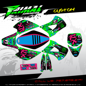 KX 85 KX 100 RETRO MX GRAPHICS PRIMAL X MOTORSPORTS BIKELIFE MX DECALS MOTOCROSS