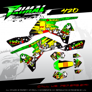 LTR 450 MX GRAPHICS PRIMAL X MOTORSPORTS BIKELIFE MX DECALS MOTOCROSS 420 WEED