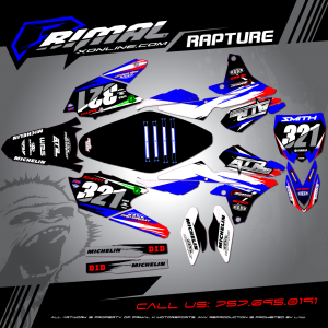 Primal X Motorsports MX Graphics YZF250 RAPTURE ATR