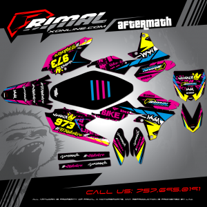 Primal X Motorsports MX Graphics YZF450 AFTERMATH NAS_HNM