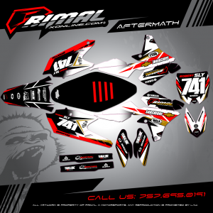 Primal X Motorsports MX Graphics YZF450 AFTERMATH