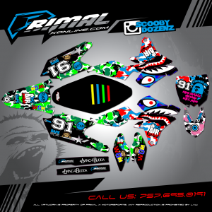 Primal X Motorsports MX Graphics YZF450 Scooby Dozens