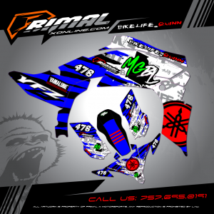 Primal X Motorsports - MX Graphics -2012 YFZ450  GRAPHICS bikelife Motocross Graphics PRIMAL X MX GRAPHICS CUSTOM