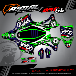 Primal X Motorsports - MX Graphics -2016 KX100 CAMO GRAPHICS bikelife Motocross Graphics PRIMAL X MX GRAPHICS CUSTOM