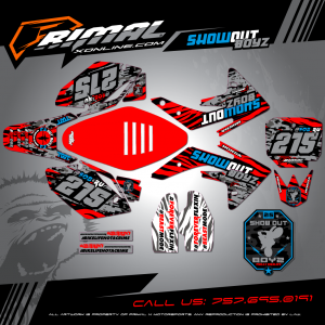 Primal X Motorsports - MX Graphics - 2009 CRF150R  GRAPHICS bikelife Motocross Graphics PRIMAL X MX GRAPHICS SHOWOUT BOYZ
