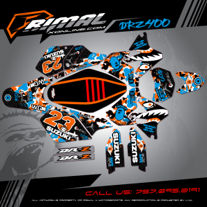Primal X Motorsports - MX Graphics - 2016 DRZ400 SM bikelife Motocross Graphics PRIMAL X MX GRAPHICS