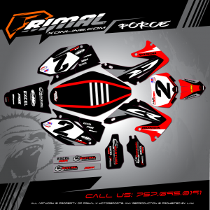 Primal X Motorsports - MX Graphics - CR250R CR 125 CR 250 HONDA bikelife Motocross Graphics PRIMAL X MX GRAPHICS
