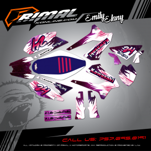 Primal X Motorsports - MX Graphics - KLX 250 GRAPHICS bikelife Motocross Graphics PRIMAL X MX GRAPHICS