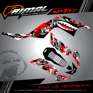 Primal X Motorsports - MX Graphics - RAPTOR 700 warbird bikelife Motocross Graphics PRIMAL X MX GRAPHICS