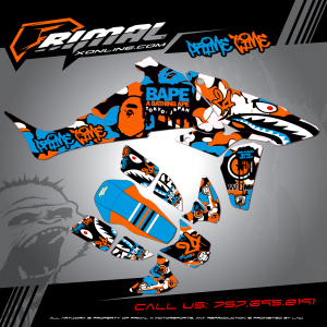 Primal X Motorsports - MX Graphics - TRX450R TRX HONDA GRAPHICS bikelife Motocross Graphics PRIMAL X MX GRAPHICS