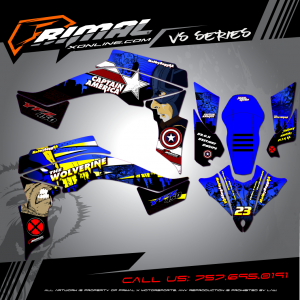 Primal X Motorsports - MX Graphics - YFZ450 Wolverine GRAPHICS bikelife Motocross Graphics PRIMAL X MX GRAPHICS Pro Circuit