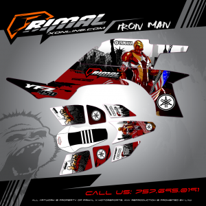 Primal X Motorsports - MX Graphics - YFZ450  IRON MAN GRAPHICS bikelife Motocross Graphics PRIMAL X MX GRAPHICS Pro Circuit