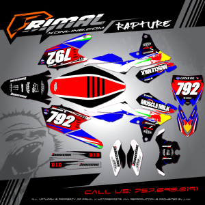 Primal X Motorsports - MX Graphics - YZF450  bikelife Motocross Graphics PRIMAL X MX GRAPHICS RAPTURE