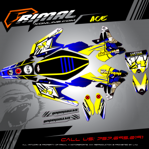 Primal X Motorsports - MX Graphics - YZF450  bikelife Motocross Graphics PRIMAL X MX GRAPHICS Undeniable ACE