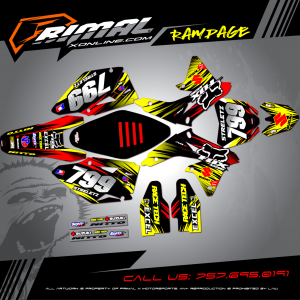RMZ 450 MX GRAPHICS PRIMAL X MOTORSPORTS BIKELIFE MX DECALS MOTOCROSS