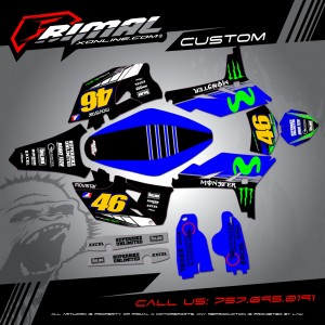 Rapturet series MX Graphics Primal X Motorsports 2016 wr450 motocross graphics supermoto movistar