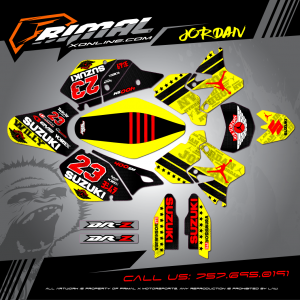 SUZKI DRZ 400SM MX GRAPHICS PRIMAL X MOTORSPORTS BIKELIFE MX DECALS MOTOCROSS CUSTOM SUPERMOTO GRAPHICS