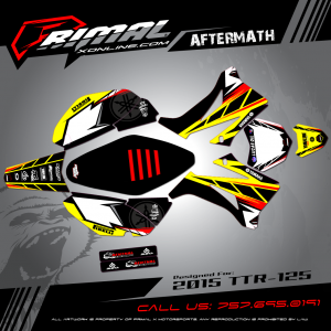 TTR125 Graphics Primal X Motorsports MX Graphics Aftermath