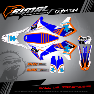WR250r MX GRAPHICS PRIMAL X MOTORSPORTS BIKELIFE MX DECALS MOTOCROSS CLEAN