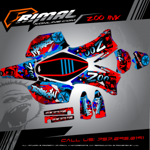 WR 450  MX GRAPHICS PRIMAL X MOTORSPORTS BIKELIFE MX DECALS MOTOCROSS zoo ink tattoo brooklyn
