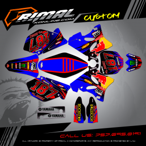 YZ250 MX GRAPHICS PRIMAL X MOTORSPORTS BIKELIFE MX DECALS MOTOCROSS