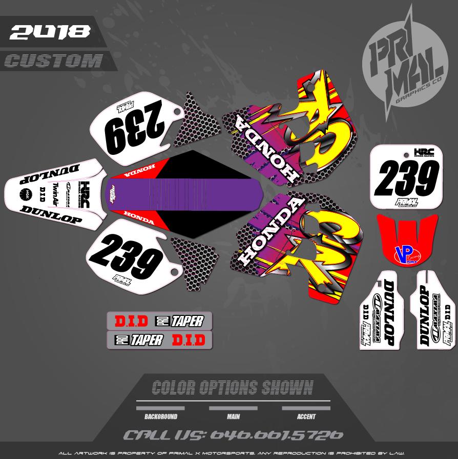CR500 CUSTOM MOTOCROSS GRAPHICS ATV MX GRAPHICS PRIMAL X MOTORSPORTS RETRO CR500 90s 2