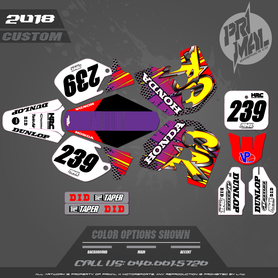 CR500 CUSTOM MOTOCROSS GRAPHICS ATV MX GRAPHICS PRIMAL X MOTORSPORTS RETRO CR500 90s