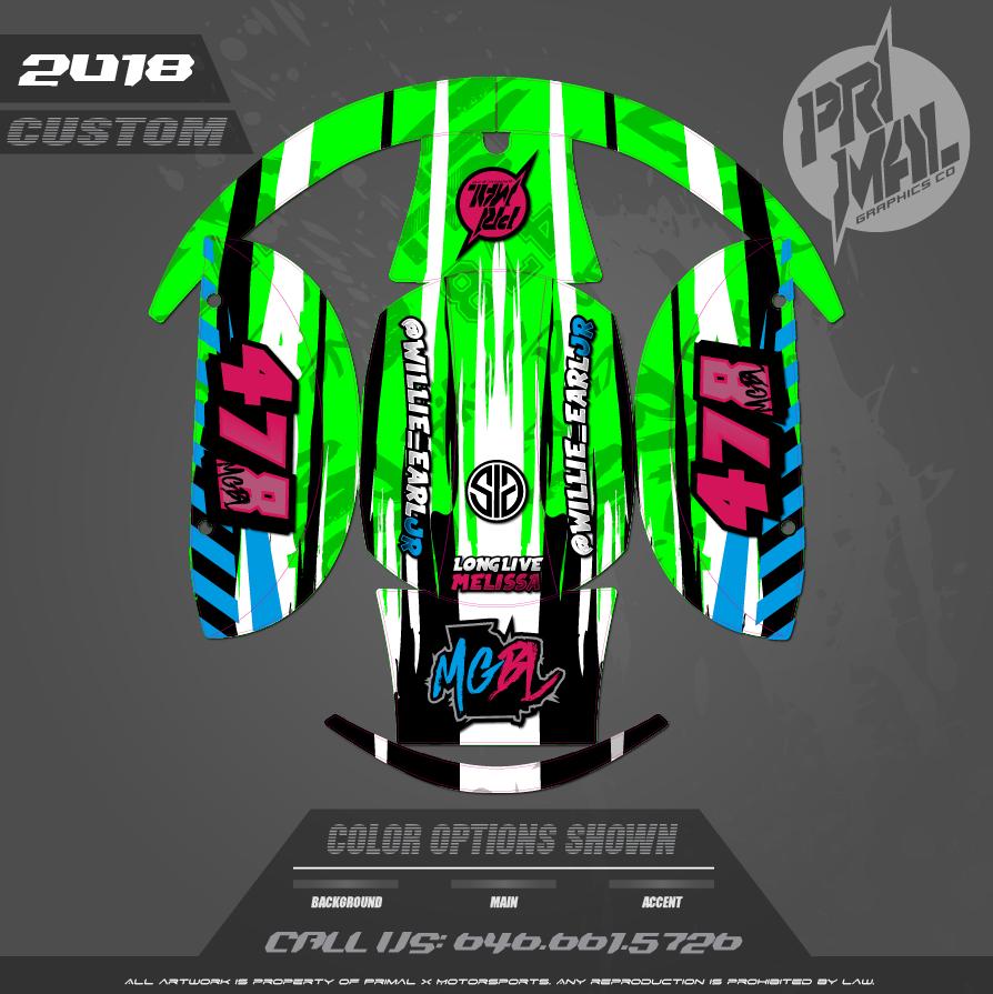 CUSTOM MOTOCROSS GRAPHICS ATV MX GRAPHICS PRIMAL X MOTORSPORTS CUSTOM BIKE LIFE
