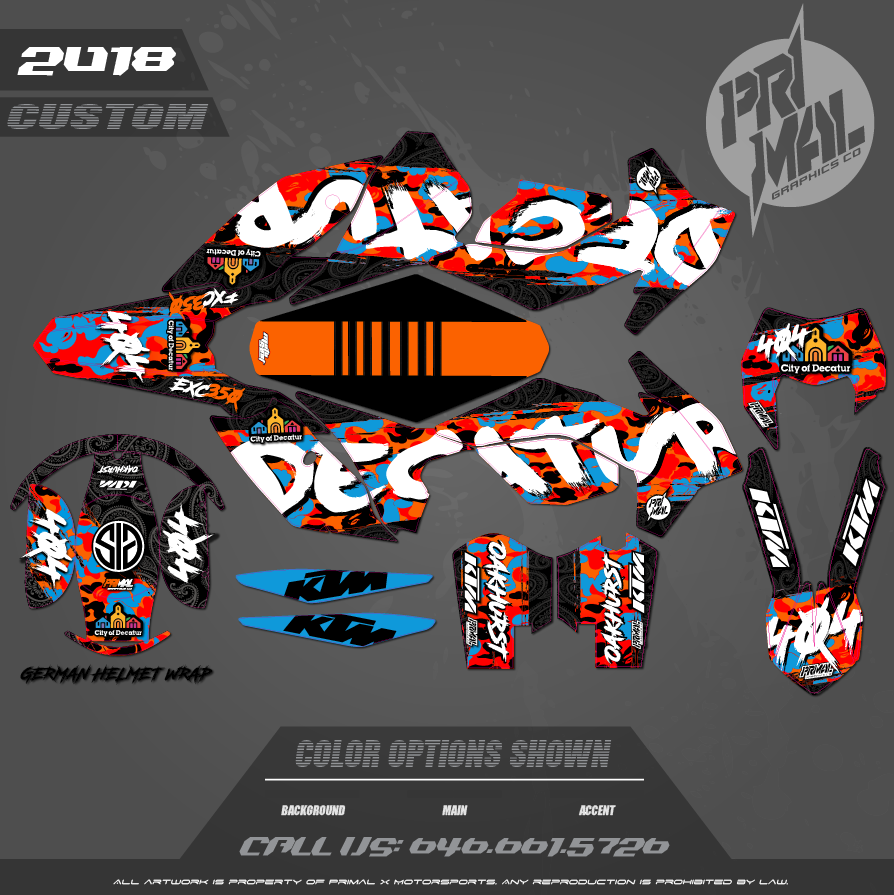 CUSTOM MOTOCROSS GRAPHICS ATV MX GRAPHICS PRIMAL X MOTORSPORTS KTM KTM350 EXC SX BIKELIFE