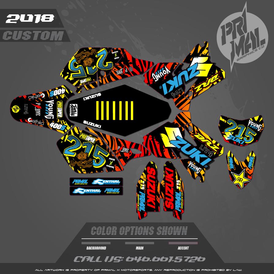 DRZ400SM CUSTOM MOTOCROSS GRAPHICS ATV MX GRAPHICS PRIMAL X MOTORSPORTS CUSTOM 215