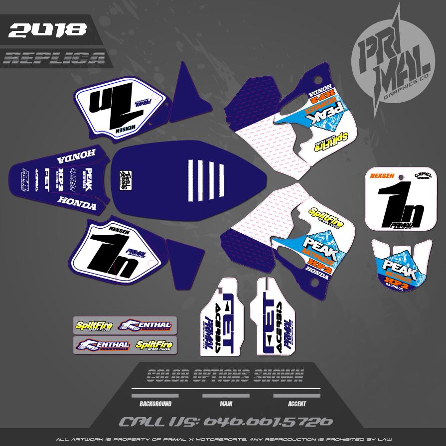HONDA CR125 PEAK HONDA MX GRAPHICS MOTOCROSS GRAPHICS ATV MX GRAPHICS PRIMAL X MOTORSPORTS
