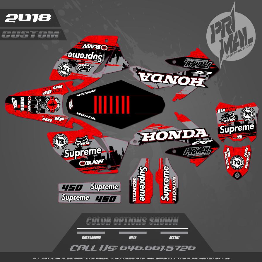 HONDA CRF450R MX GRAPHICS MOTOCROSS GRAPHICS ATV MX GRAPHICS PRIMAL X MOTORSPORTS BIKELIFE PHILLY BIKELIFE