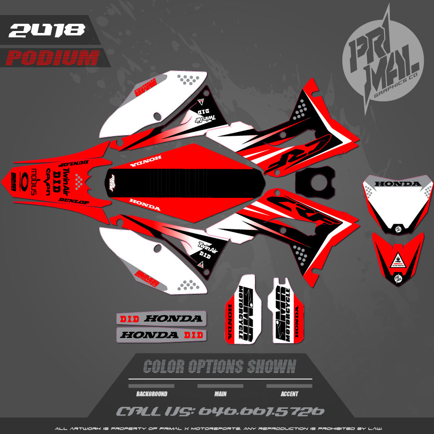 HONDA CRF450R MX GRAPHICS MOTOCROSS GRAPHICS ATV MX GRAPHICS PRIMAL X MOTORSPORTS MR MOTORCYCLE