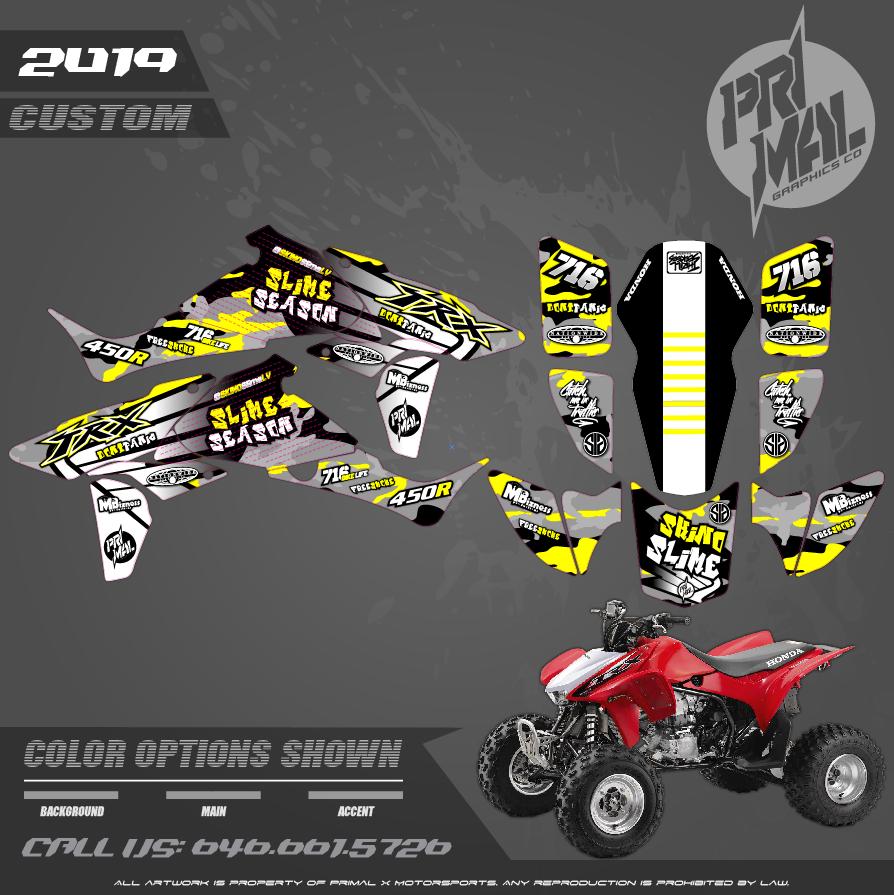 HONDA TRX450R  MOTOCROSS GRAPHICS ATV MX GRAPHICS PRIMAL X MOTORSPORTS PRIMAL GFX BIKELIFE