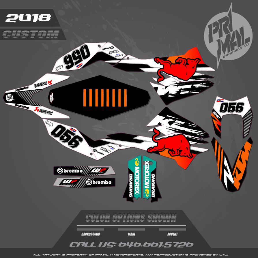 KTM SMR CUSTOM MOTOCROSS GRAPHICS ATV MX GRAPHICS PRIMAL X MOTORSPORTS