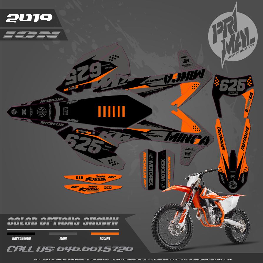 KTM SX SXF 250 450 XCW300 SERIES MOTOCROSS GRAPHICS ATV MX GRAPHICS PRIMAL X MOTORSPORTS PRIMAL GFX CO BIKELIFE