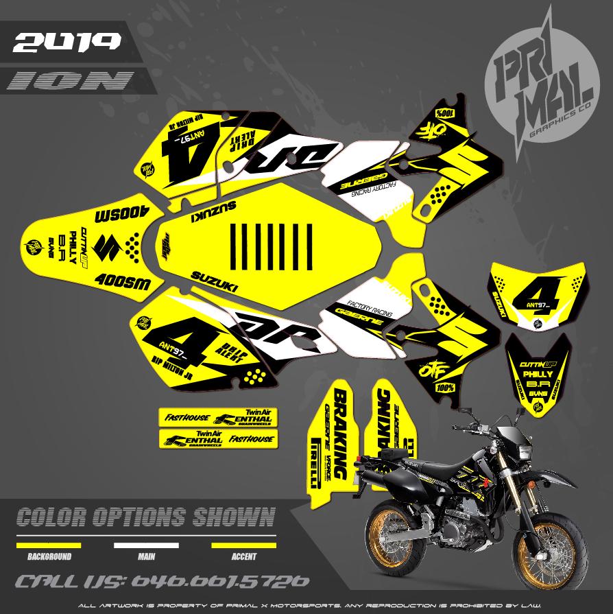 SUZUKI DRZ400SM MOTOCROSS GRAPHICS ATV MX GRAPHICS PRIMAL X MOTORSPORTS PRIMAL GFX BIKELIFE PHILADELPHIA PHILLY