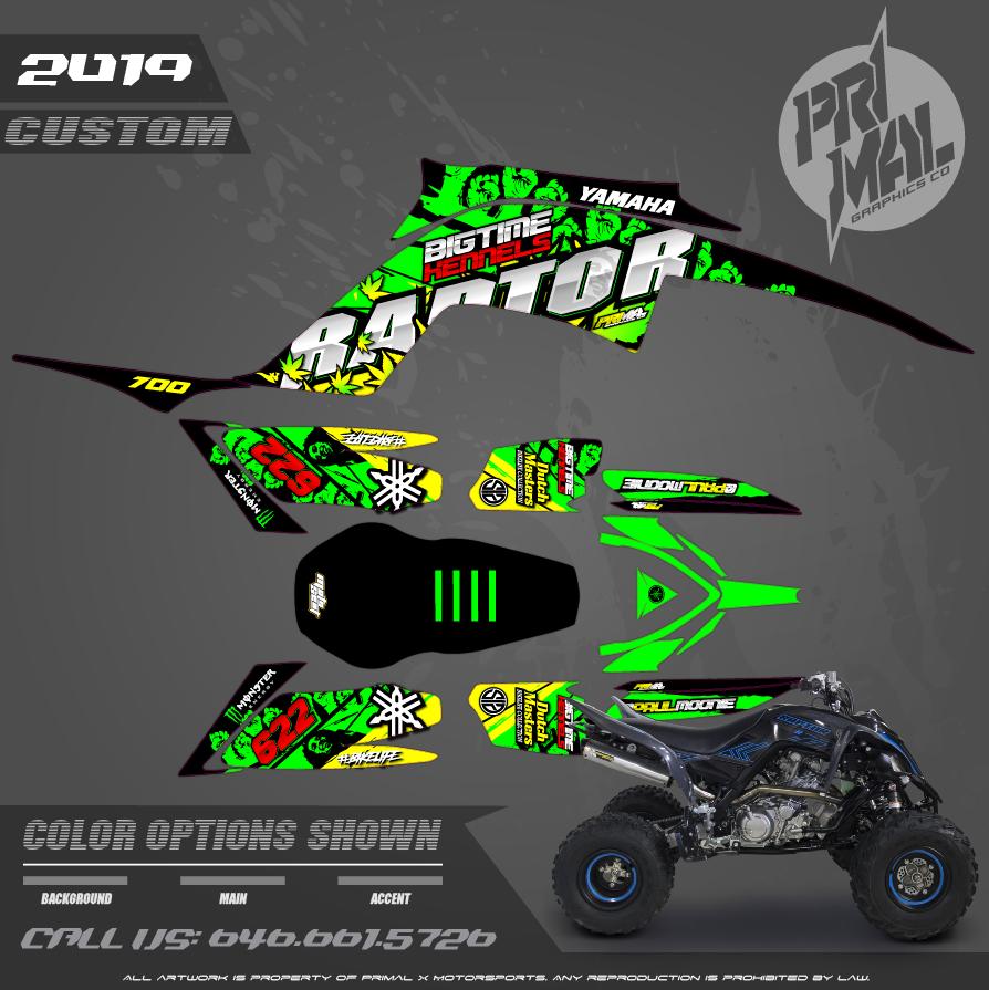 YAMAHA RAPTOR 700 ATV GRAPHICS MOTOCROSS GRAPHICS ATV MX GRAPHICS PRIMAL X MOTORSPORTS PRIMAL GFX CO BIKELIFE