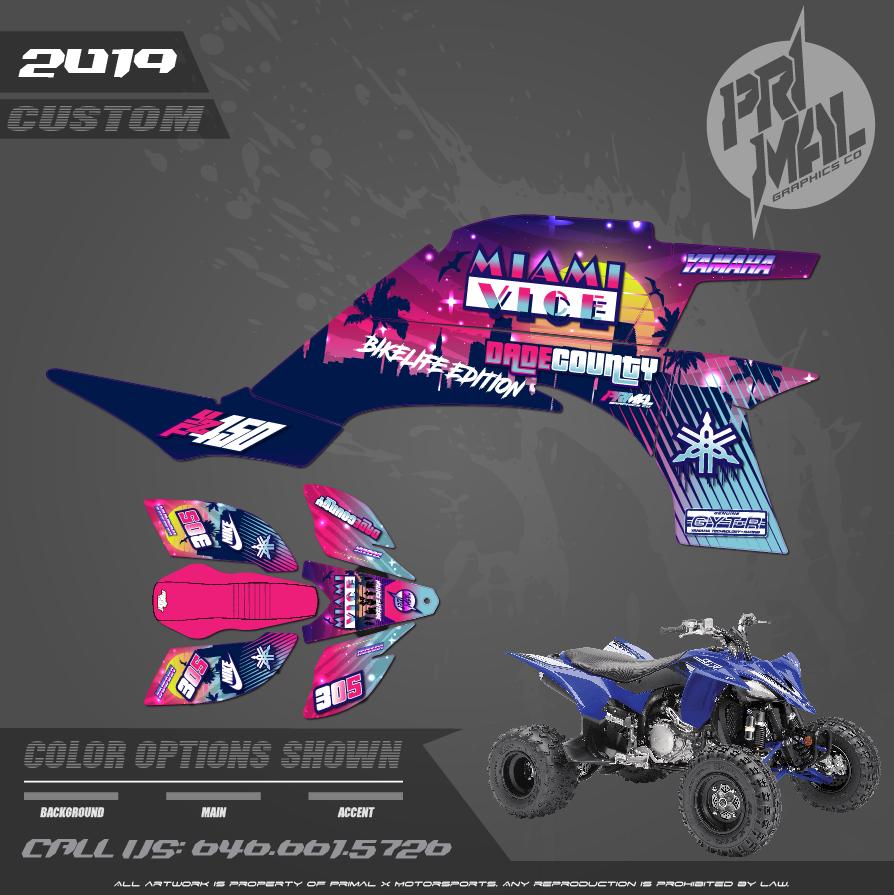 YAMAHA YFZ450 CUSTOM MOTOCROSS GRAPHICS ATV MX GRAPHICS PRIMAL X MOTORSPORTS MIAMI BIKELIFE MLK RIDEOUT