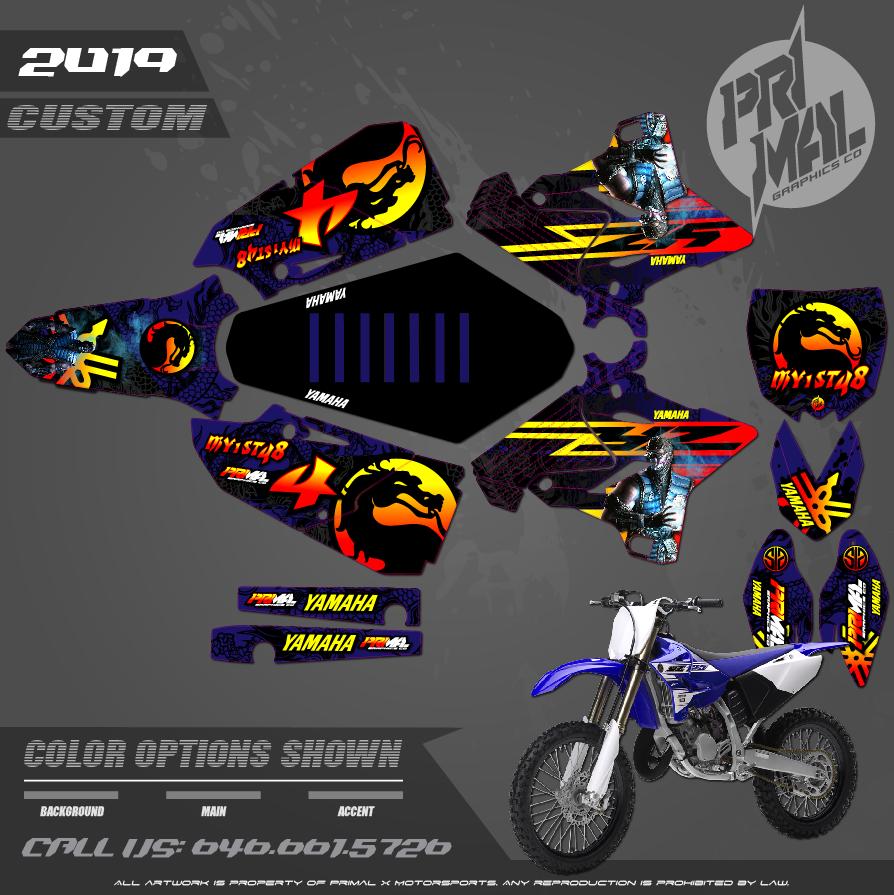 YAMAHA YZ125 YZ250 MORTAL KOMBAT MOTOCROSS GRAPHICS ATV MX GRAPHICS PRIMAL X MOTORSPORTS PRIMAL GFX BIKELIFE