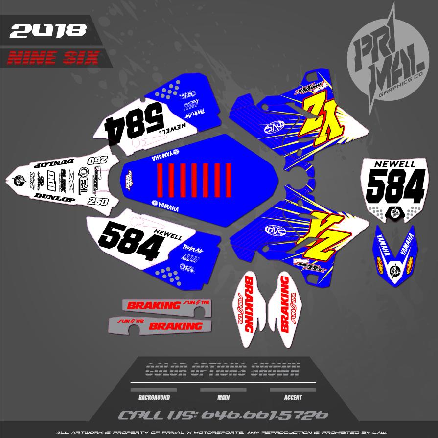 YAMAHA YZ125 YZ250 RETRO MX GRAPHICS MOTOCROSS GRAPHICS ATV MX GRAPHICS PRIMAL X MOTORSPORTS MOTOCROSS BIKELIFE 2