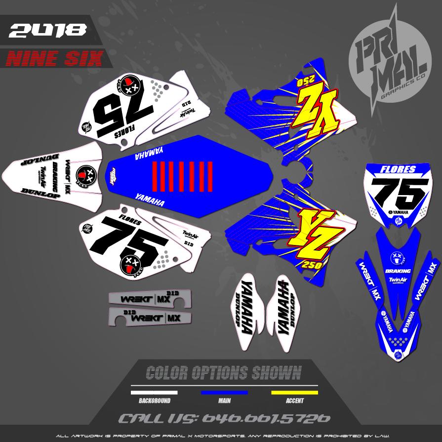 YAMAHA YZ125 YZ250 RETRO MX GRAPHICS MOTOCROSS GRAPHICS ATV MX GRAPHICS PRIMAL X MOTORSPORTS MOTOCROSS BIKELIFE